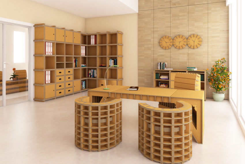 mobili in cartone - idee green